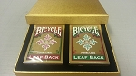 Set of 2 Bicycle Leaf Back Playing Card Decks in Gift Box FREE SHIPPING