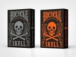 Set of 2 Bicycle Skull Orange & Mettalic Silver Playing Card Decks FREE SHIPPING