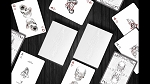 Black Trauma White Edition Playing Cards