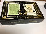 Da Vinci Club Casino Playing Cards, 2-Deck Set poker size jumbo index