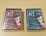 Ace Authentic Limited Edition Giant Face Red & Blue Playing Card Deck New