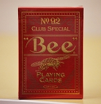Bee Premium Red Playing Cards deck