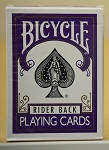 Bicycle Rider Back Violet Color with Black seal