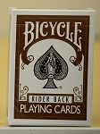 Bicycle Rider Back Brown Color playing cards deck