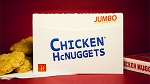 Jumbo Chicken Nugget Playing Cards Deck - Red