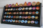 5 Rows Coin display Stand Holder Rack BLACK