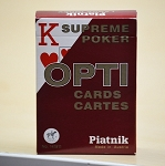 Opti Supreme Poker Playing Cards Deck (Red)