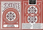 Red Autumn Bicycle Playing Cards