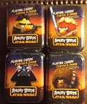 Angry Birds Star Wars Playing Cards. Complete Set(4) NEW & Sealed in Tins