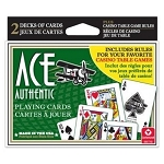 NEW Ace Playing Cards Double Deck + Casino Game Instructions