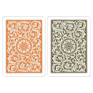 Copag Orange & Brown W/J Playing Cards FREE SHIPPING