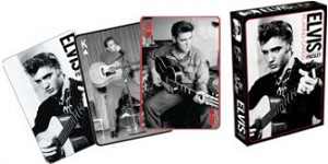 Elvis B&W Playing Cards