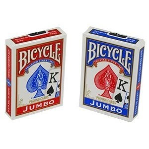 6 Decks of Bicycle Jumbo Index Playing Cards
