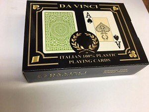 Da Vinci Club Casino Playing Cards, 2-Deck Bridge size jumbo index