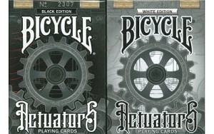 Bicycle Black & White Actuators Playing Cards 2 Deck Set