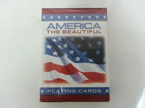 America the beautiful playing cards deck
