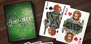 Avant Garde Green Playing Cards Deck