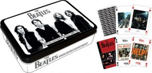 The Beatles 2 Deck Playing Cards in Tin