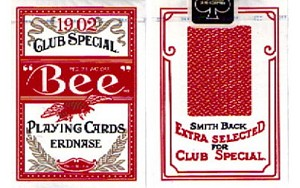 Bee Poker Jumbo Playing Cards Red Erdnase