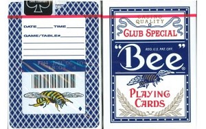 Bee Back Playing Cards in Blue