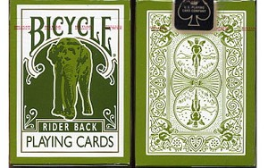 Bicycle Elephant Rider Playing Cards Blue Label