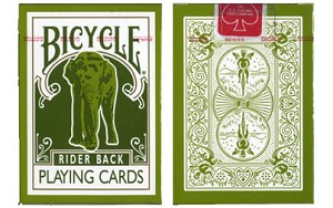 Bicycle Tsunami Elephant Back Playing Cards Red Label