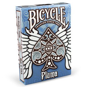 Bicycle Pluma Blue Playing Cards