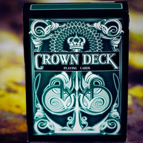 Blue Crown - Crown  Playing Cards Green Color