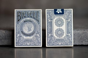 Silver Certificate Bicycle Branded Playing Cards
