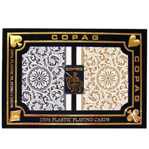 Copag Black & Gold N/S Playing Cards FREE SHIPPING