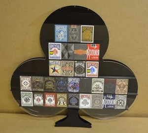 DECKZIBITS CLUBS Playing Cards Display Case WALL HANGING