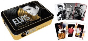 Elvis  2 Deck Playing Cards in Tin