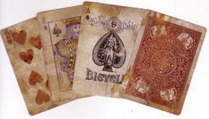 Bicycle Distressed Expert Back Playing Cards Error Version