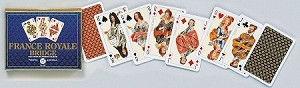 France Royale Double Deck Bridge Size Playing Cards by Piatnik