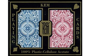 KEM Arrow Red & Blue Bridge Size Standard Index Playing Cards  Free Shipping