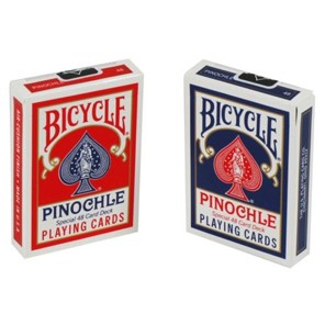 Bicycle Pinochle Blue Playing Cards