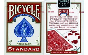 Bicycle Red Rider Back Playing Cards New Box Design
