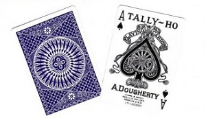 Tally Ho Circle Back Playing Cards Blue