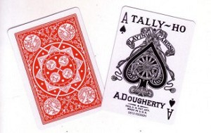 Tally Ho Fan Back Playing Cards Red